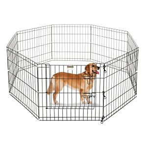 Pet Trex 24″ Playpen for Dogs Eight 24″ Wide  x 24″ High Panels