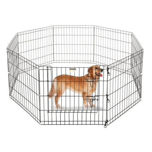 playpen dogs eight wide panels