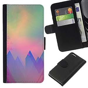 Stuss Case / Funda Carcasa PU de Cuero - Arte del trullo púrpura Sun - Apple Iphone 5C