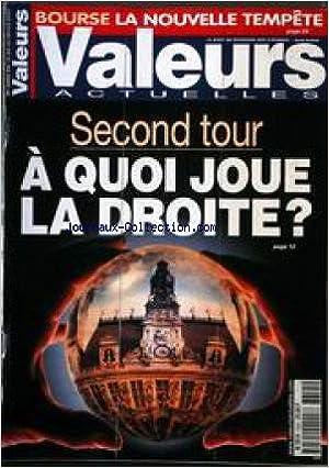 Télécharger des livres en ligne VALEURS ACTUELLES [No 3355] du 16/03/2001 - BOURSE - LA NOUVELE TEMPETE - SECOND TOUR - A QUOI JOUE LA DROITE. FB2 B0047UFPIG