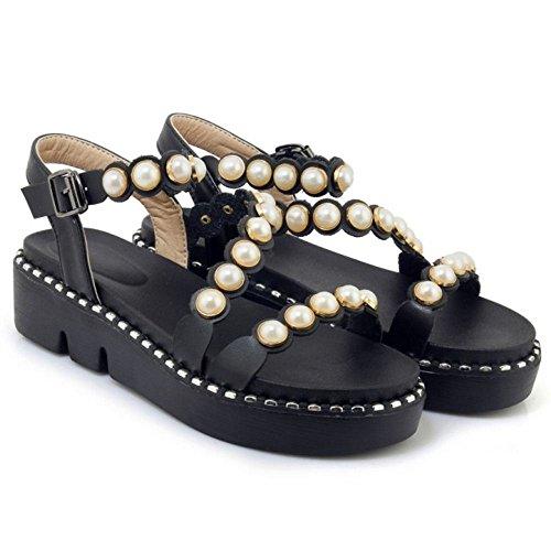 Zanpa Dolce Flatform Way Donna Black Sandli 2 3 qqHxfwrg5