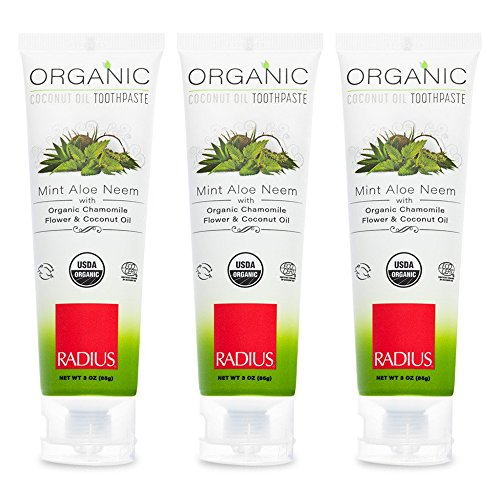 Toothpaste Aloe - Toothpaste, USDA Organic Mint Aloe Neem, 3 oz