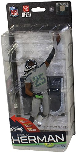 McFarlane Toys NFL Series 36 Seattle Seahawks Richard Sherman (Grey Uniform) - Bronze Collector Level Variant
