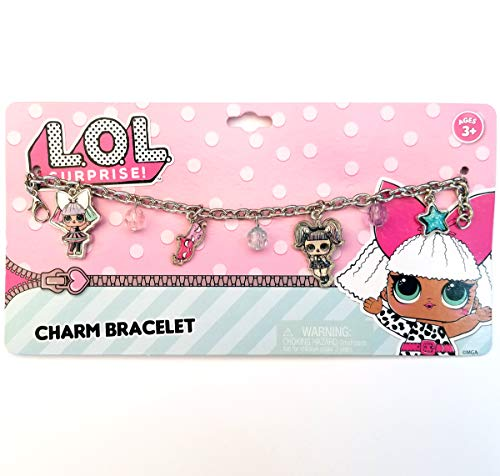 Pink LOL Doll Metal Charm Bracelet for Gift Party Favors etc (Pink LOL Doll (Metal))