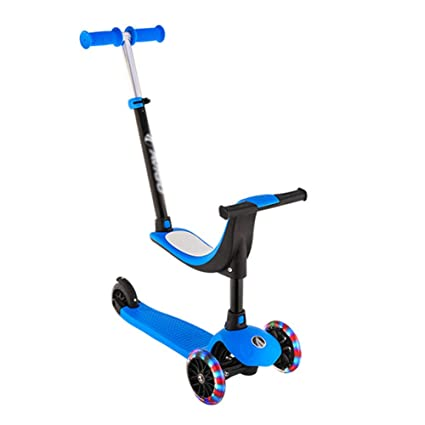 Patinete- Scooter para niños con empuñadura Scooter 4 Ruedas ...