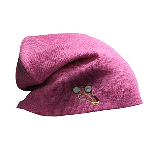 Victorian Eye Glasses Emboirdery Unisex Adult Cotton Acrylic Slouch Beanie Skully Hat - Pink, One - Eyeglasses Tampa