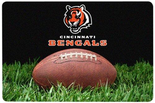 NFL Cincinnati Bengals Classic Football Pet Bowl Mat Large