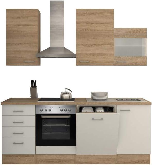 Smart Möbel Salerno Bloque de Cocina (220 cm, Roble Sonoma, con Fregadero, lavavajillas y Fregadero), Color Blanco: Amazon.es: Juguetes y juegos