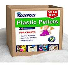 Plastic Pellets Bulk Box for Weighted Blankets (50 LBS) Non-Toxic, Premium Quality Made in the USA for Rock Tumbling, Stuffing & Filling Dolls, Crafts