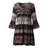 Dress Women, Neartime Women Floral Print Boho Ladies Evening Party Dress (XL, Black)