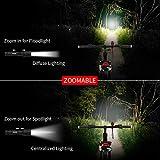 Bike Flashlight, Morpilot Rechargeable Bicycle