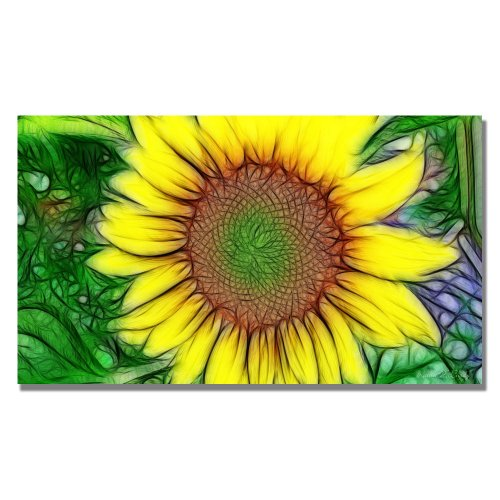 Trademark Fine Art Sunflower 2 by Kathie McCurdy Canvas Wall Art, 18x32-Inch
