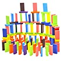100-piece Wooden Domino Blocks Set  Racing Toy Game  Building and Stacking Toy Blocksの商品画像