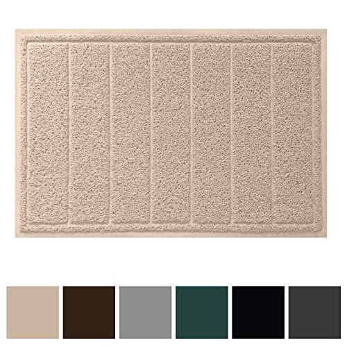 Gorilla Grip Original Durable Indoor Door Mat (35x23) Large Size, Heavy Duty Doormats, Waterproof Doormat, Easy Clean, Low-Profile Mats for Entry, Garage, Patio, High Traffic Areas (Beige) from Gorilla Grip