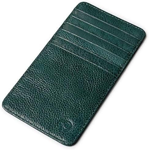 Vintage Leather Wallet Slim Pocket Sleeve Credit Card Holder case 12 Card Slots