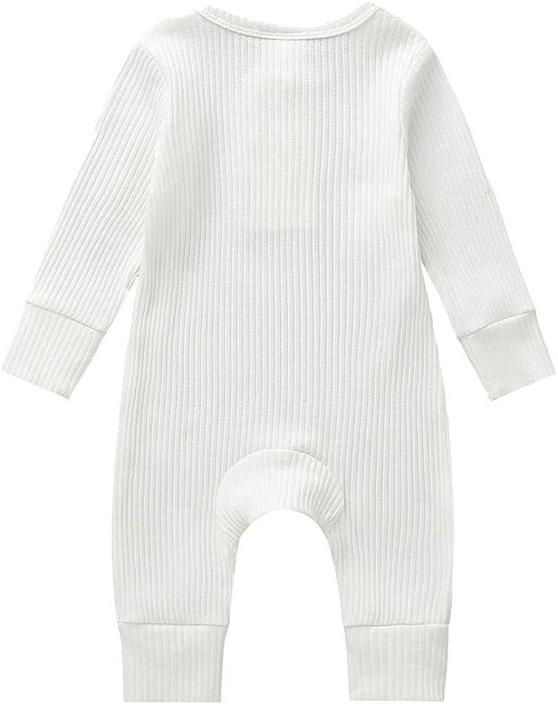 Strampler Bodysuit f/ür M/ädchen,S/äuglingsbaby Langarmshirt Bodys Spielanzug Overall Kleidung TTLOVE/_Baby Unisex Baby Schlafstrampler,TTLOVE Schlafstrampler f/ür Junge