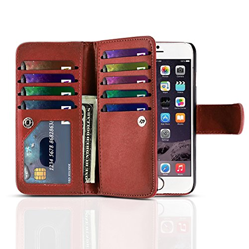 tnp-iphone-6-plus-wallet-case-red-flip-synthetic-leather-wallet-pocket-case-2-in-1-magnetic-detachab