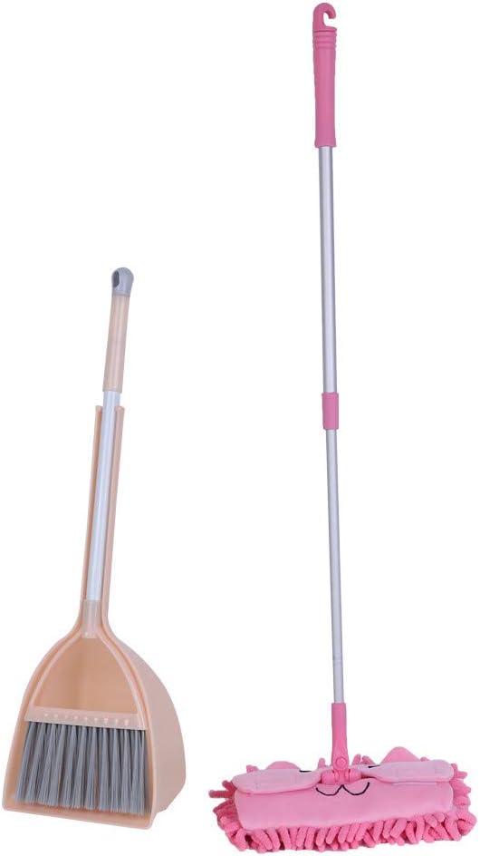 Ktyssp Juego de Herramientas de Limpieza para el hogar para niños, 3 Piezas, fregona pequeña pequeña Escoba pequeña recogedor Favorito para niños: Amazon.es: Deportes y aire libre