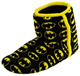 Mens Batman Black Textile Fleece Warm Boot Slippers 13 D(M) US
