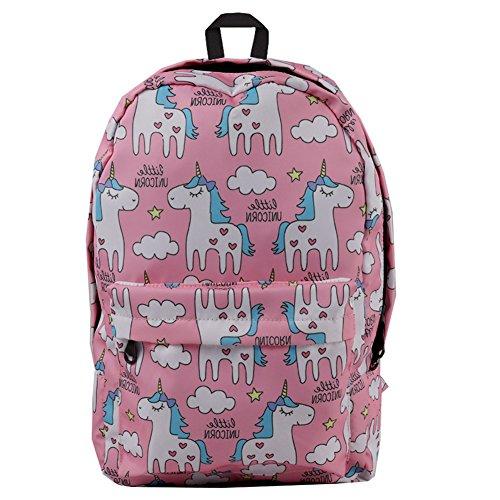 43daa6d365 Moolecole Unicorn Children School Backpack Lightweight Shoulder Bag Bookbag  for Kids Girls