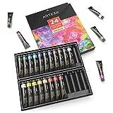 ARTEZA Gouache Paint, Set of 24 Colors/Tubes (24x12ml/0.74oz) with Storage Box, Rich Pigments, Vibrant, Non Toxic Paints for The Professional Artist, Hobby Painters & Kids (2 Set)