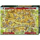 Heye 29639 - Marino Degano, Funky Zoo African Habitat, 1000 Teile Standardpuzzle