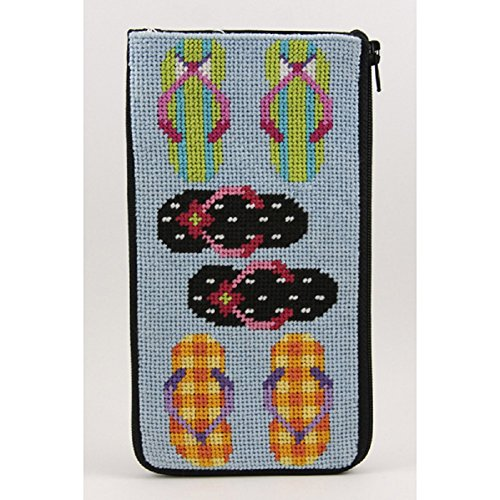- Stitch & Zip Needlepoint Eyeglass Case Kit - SZ442 Flip Flops