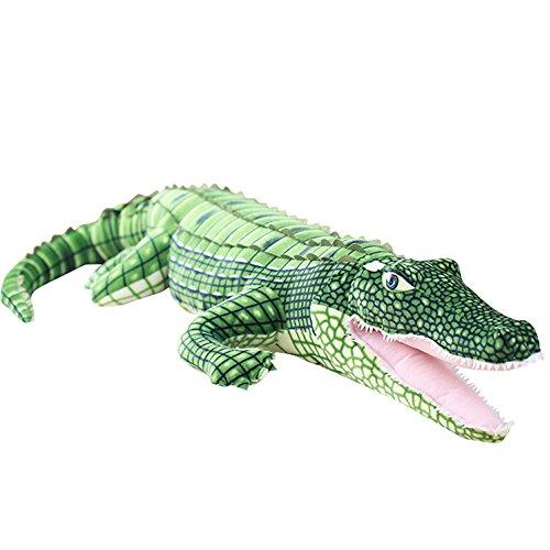 Crocodile Plush Stuffed Animal - VSFNDB Alligator Stuffed Animal Crocodile Plush Toy 39 Inch Large Big Realistic Animal Stuffed Child Pillow Cushion - Soft Cuddly Dolls for Kids Girl Boy Gifts, Lifelike Alligator, Green, 39Inches