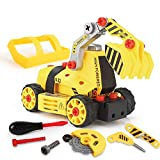 7-in-1 DIY Take Apart Truck Car Toys 3 4 5 6 Year Old Boys Kids Girls - Construction Engineering STEM Learning Toy Building Play Set Kids Xmas Gifts