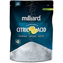 Milliard Citric Acid - 10 & 50 Pound Bulk - 100% Pure Food Grade NON-GMO