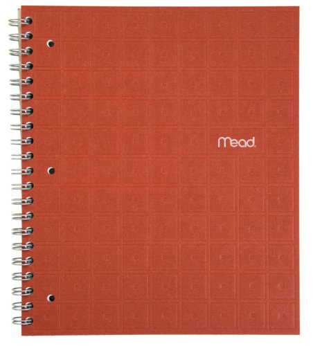 Mead Recycled Spiral Notebook, 80 Sheets, College Ruled, 11 x 8.5 Inch Page Size, Ginger (72437)