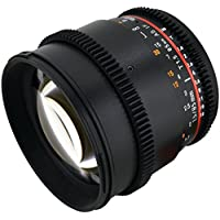 Rokinon CV85M-C 85mm t/1.5 Aspherical Lens for Canon with De-Clicked Aperture and Follow Focus Compatibility Fixed Lens (Certified Refurbished)