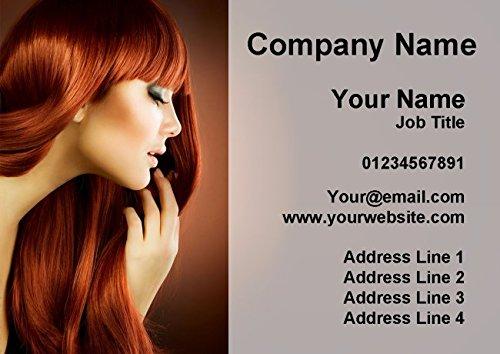 100 Hair Hairdressing Salon Mobile Stylist Personalised Business Cards Fingerprint Designs