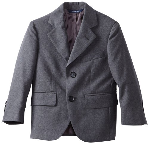 (Brooks Brothers Little Boys' Two Button Jacket Junior, Gray, 6)