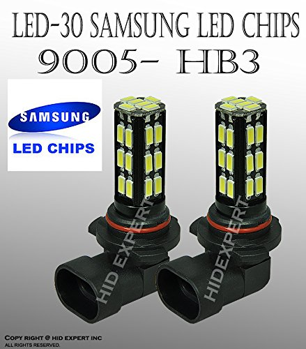 ICBEAMER JDM One Pair LED 9005/HB3 9055 30-LED Samsung DAY TIME RUNNING LIGHT and fit High Beam (2003 Tahoe Running Lights compare prices)