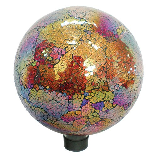 (Very Cool Stuff GLMCR10 Mosaic Glass Gazing Ball, Copper/Red, 10-Inch (Discontinued by Manufacturer))