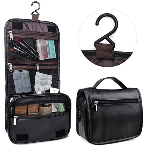 Toiletry Bag,Hanging Toiletry Bag,Happy David Makeup Bags Travel Kit with Several Zipper Pockets(HD002,Black)