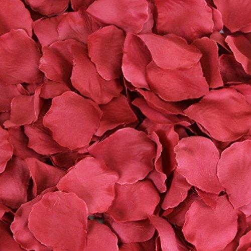 Koyal Wholesale 200-Pack Silk Rose Petals, True Red
