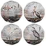 Certified International Coastal View Canape Plates (Set of 4), 6'', Multicolor