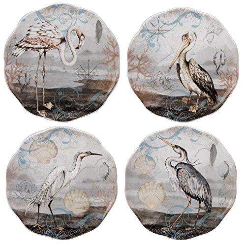 Certified International Coastal View Canape Plates (Set of 4), 6