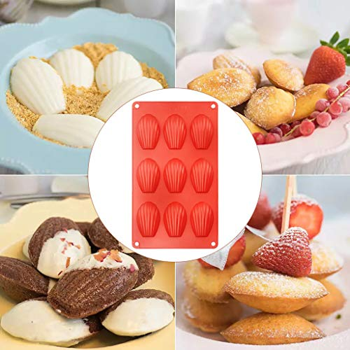 aliveGOT Seashell Chocolate Mold Soap Candy Jelly Mold Baking Tools Sugarcraft Pastry Clay Making Ice Cube Tray