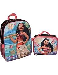 Disney Moana Girls School Backpack Lunch Box Book Bag Combo SET