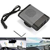 Car Heater, Womdee 2018 Upgrade Fast Heating Quickly Defrost Defogger Demister Vehicle Heat Cooling Fan Auto Windshield Ceramic Heater Plug in Cigarette Lighter, 12V 150W, Grey with Air Purification