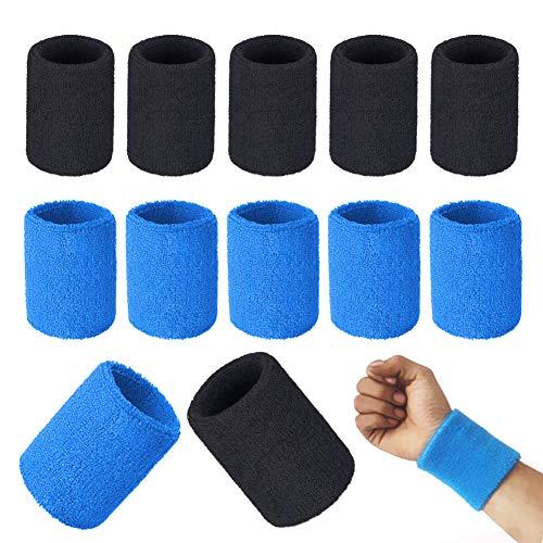 SwirlColor Schweissband Handgelenk, 6 Paar Schweißband Handgelenk Schweißabsorbierende Schützend Elastische Han