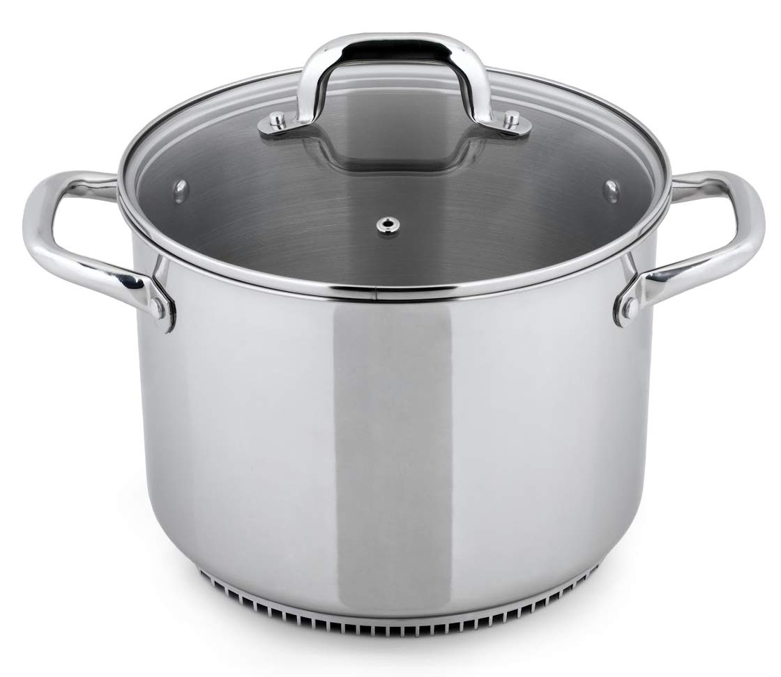 Turbo Pot FreshAir Stainless Steel 8.1 Qt. Stock Pot Eneron Inc. RS3004
