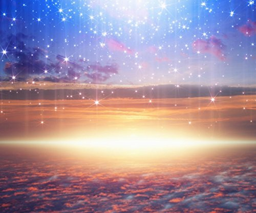 Heavenly Photo Backdrop Bright Glowing Stars Light From Pink Heaven Cloud Sky Photography Background for Studio 10x8 ft