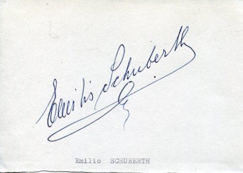 Emilio Schuberth autograph Italian fashion designer 1940s and 1950s
