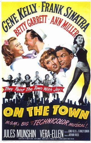 On the Town Movie Poster (11 x 17 Inches - 28cm x 44cm) (1949) Style A -(Gene Kelly)(Frank Sinatra)(Vera-Ellen)(Ann Miller)(Betty Garrett)