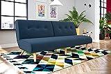 Novogratz 2182629N Palm Springs Futon Couch, Blue Linen