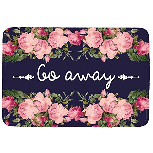 Funny door mat for daily Use-Stylish Floor Mat Rug Indoor Bathroom Mats Rubber Non Slip (go away)